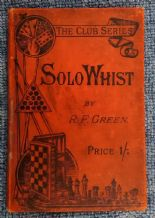 Antique Collectible playing cards Book. Solo Whist 1897,